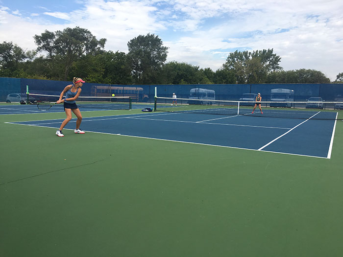 Freshmen top the girls varsity tennis lineup