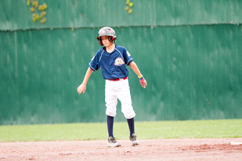 Colin Meyer on his travel baseball team