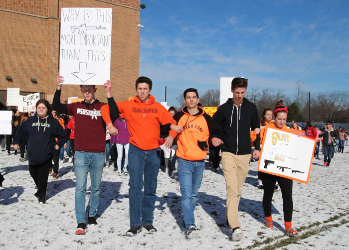 622 DGS students turn out for nation-wide walkout