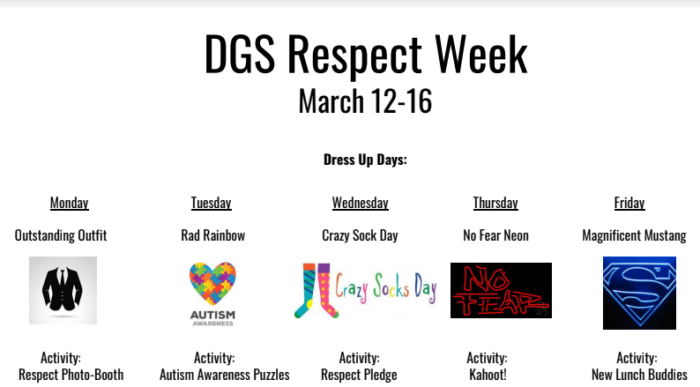DGS celebrates Respect Week