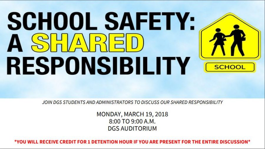 This is the safety flier that Taylor shared with students via email on March 14.