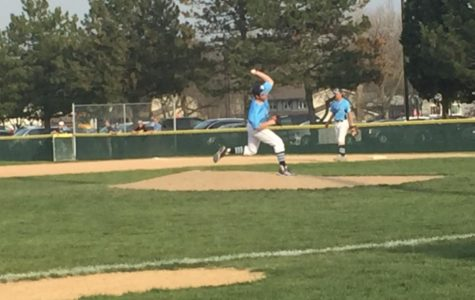 Mustangs split baseball games with Warriors