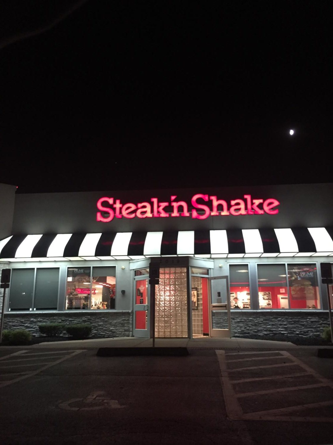 Late night out at a Steak & Shake.