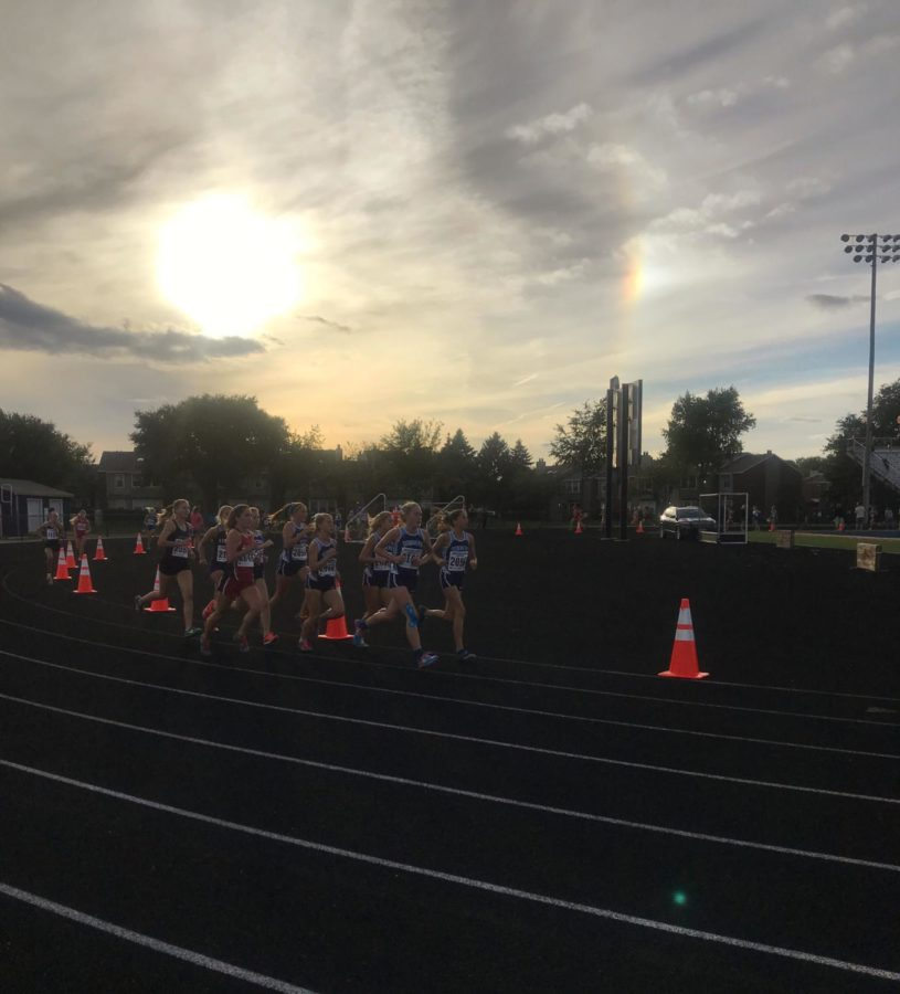 DGS cross country leads the way as they race for the win.