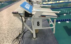 New swimming blocks installed by pool
