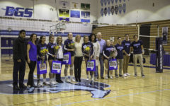 Varsity girls volleyball set at senior night