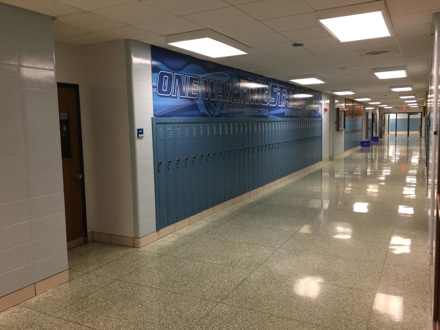 A calm afternoon in the first-floor D Hallway.