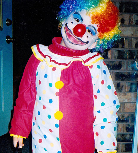 Jaime Gallegos gets ready to trick-or-treat in his childhood Halloween costume.