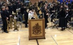 Seniors play prank at the holiday concert