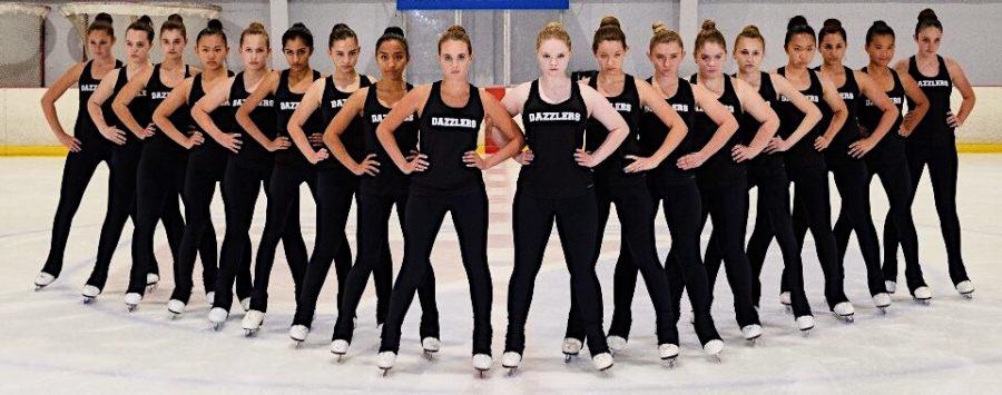 Kozlowski%2C+center+left%2C+poses+with+her+team+at+the+beginning+of+this+season.+Photo+courtesy+of+Dana+Kozlowski.