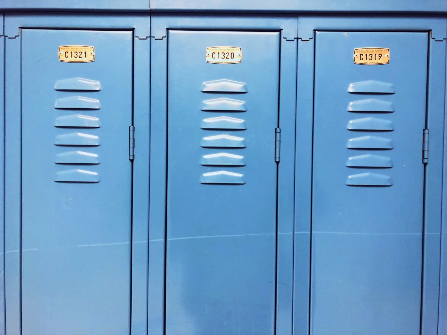 The lockers at DGS.