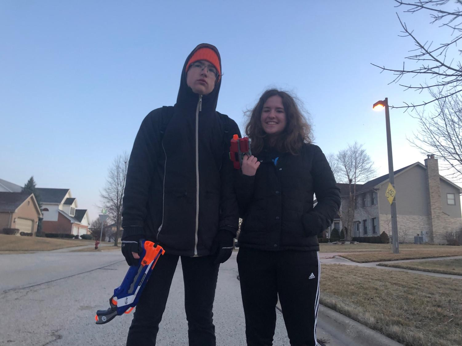 Kelly Jankowski assassinated Scott Pape with her Nerf gun while leaving her car.
