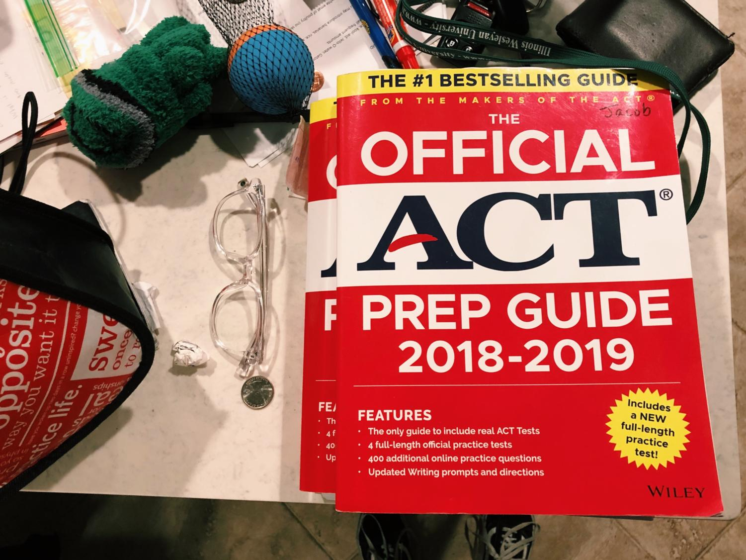 My ACT prep book.  I have never opened it.