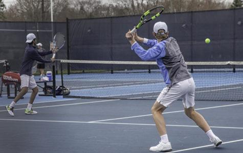 Varsity boys' tennis wins big against Willowbrook