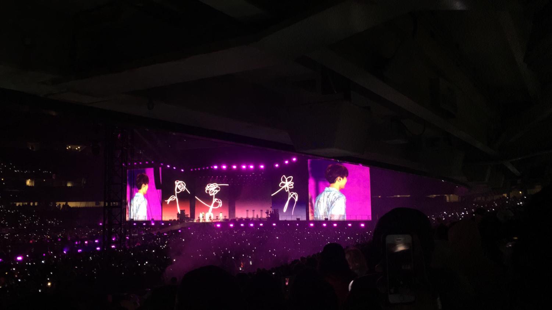 BTS on their international tour promoting their recent 2019 album release
