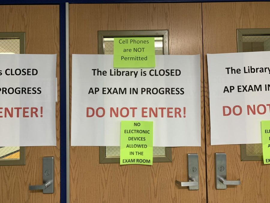 The library will be closed for most of the month due to AP testing.