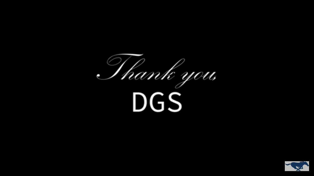 Thank you, DGS