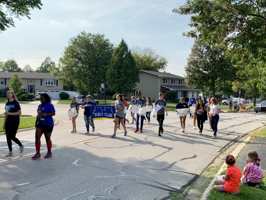 Key Club marches among other DGS clubs in the annual homecoming parade.
