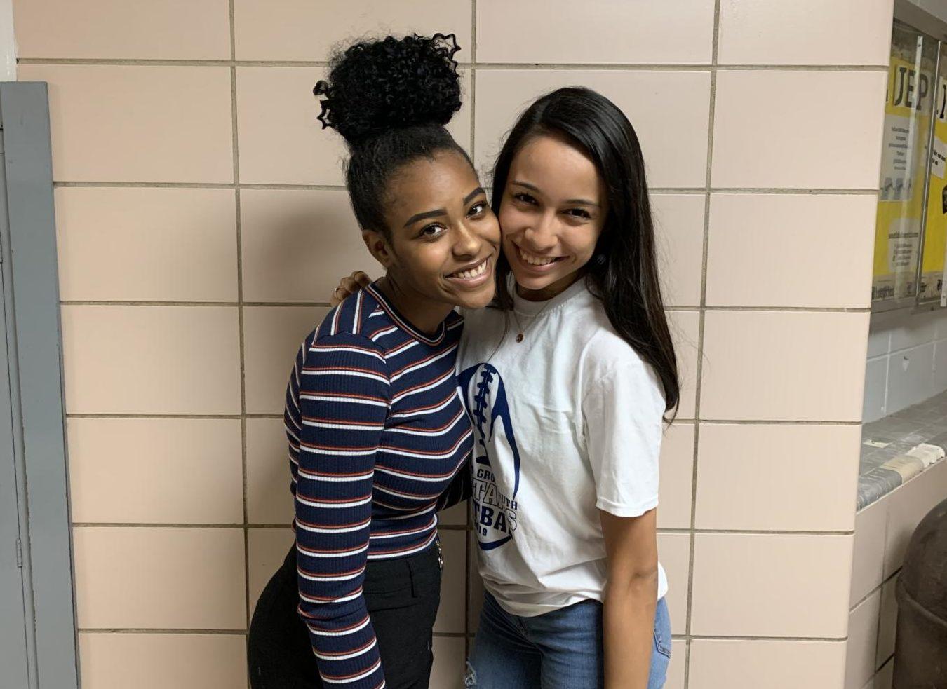Juniors Arielle Williams and Jimena Gomez met in Avid freshman year.
