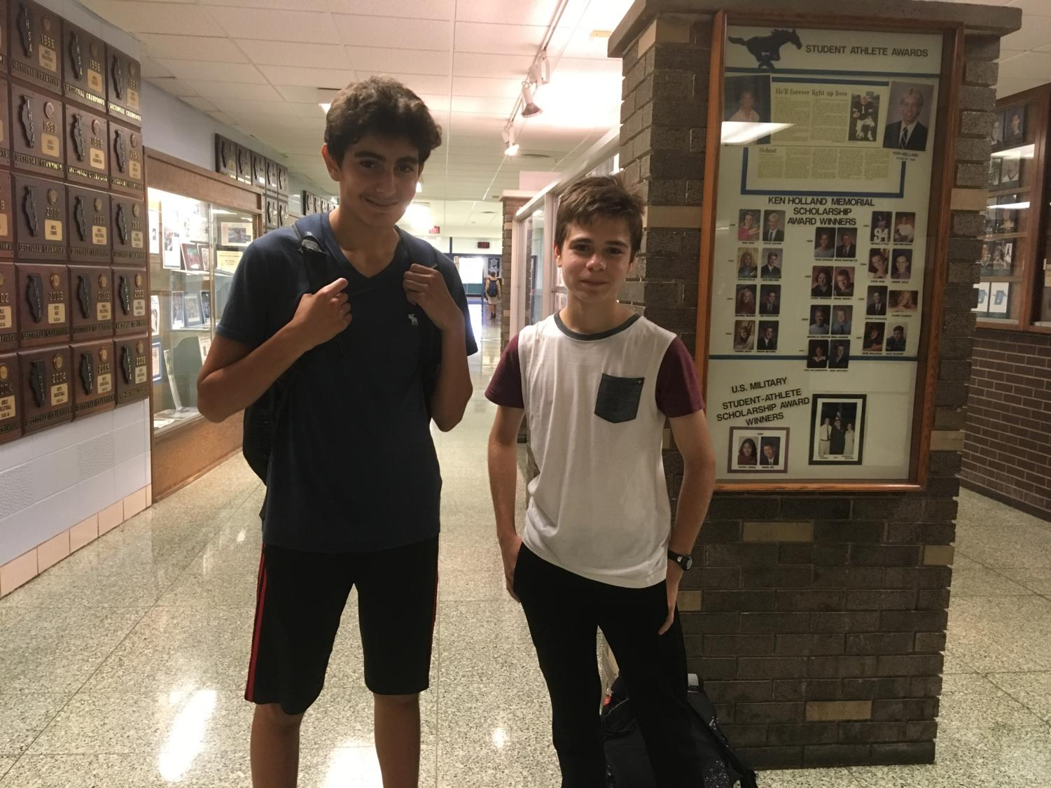 Sophomores Arda Acik and Christopher Neumann have been running cross country together for years.