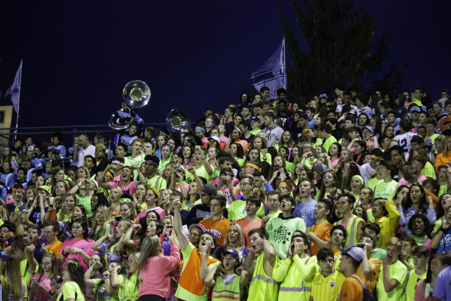 The theme for the first game of the 2019 season was neon, however it was not bright enough theme for the home opener.