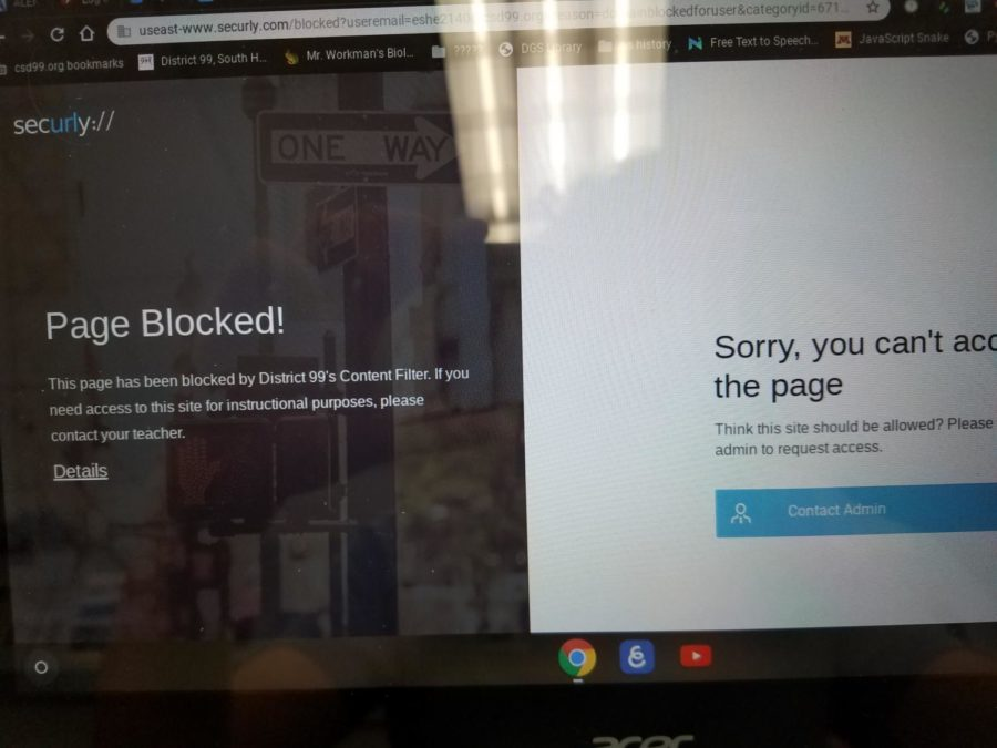 After looking something up I was greeted with a familiar sight. Blocked, again.