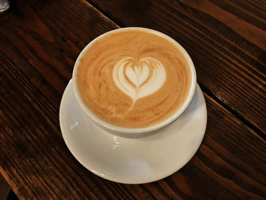 The bourbon spice latte from Five and Hoek had an intricate heart design.