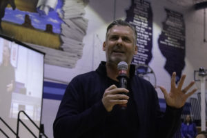 Red Ribbon Week assembly speaker Eddie Slowikowski sparks mixed reactions
