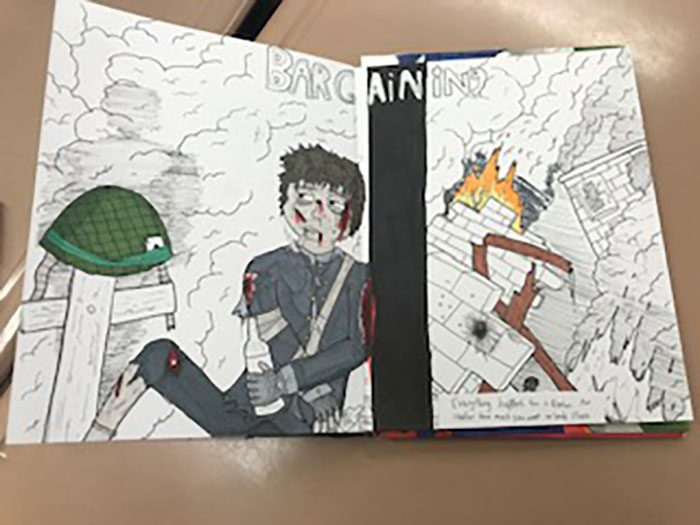 Drawing III and Studio Art students create varying works of art related to social and emotional learning.