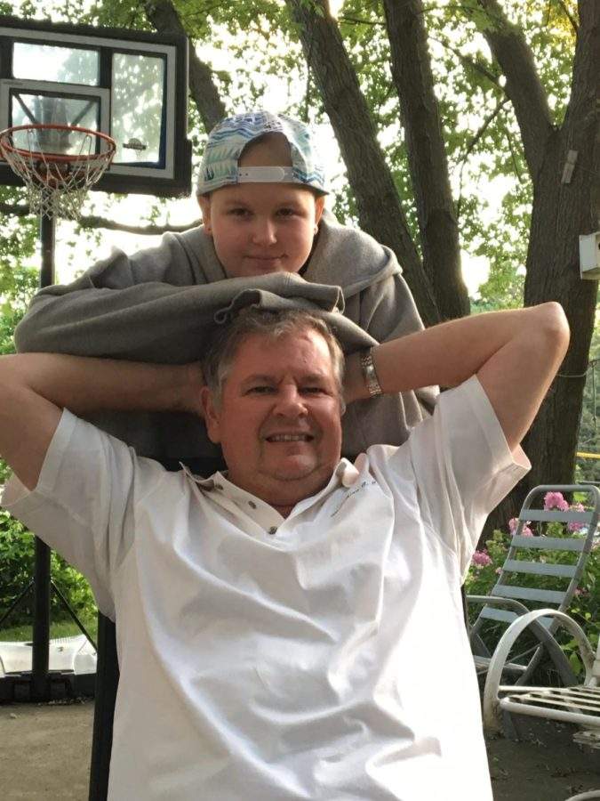 Lichner celebrates the halfway mark of her cancer diagnosis with her dad.