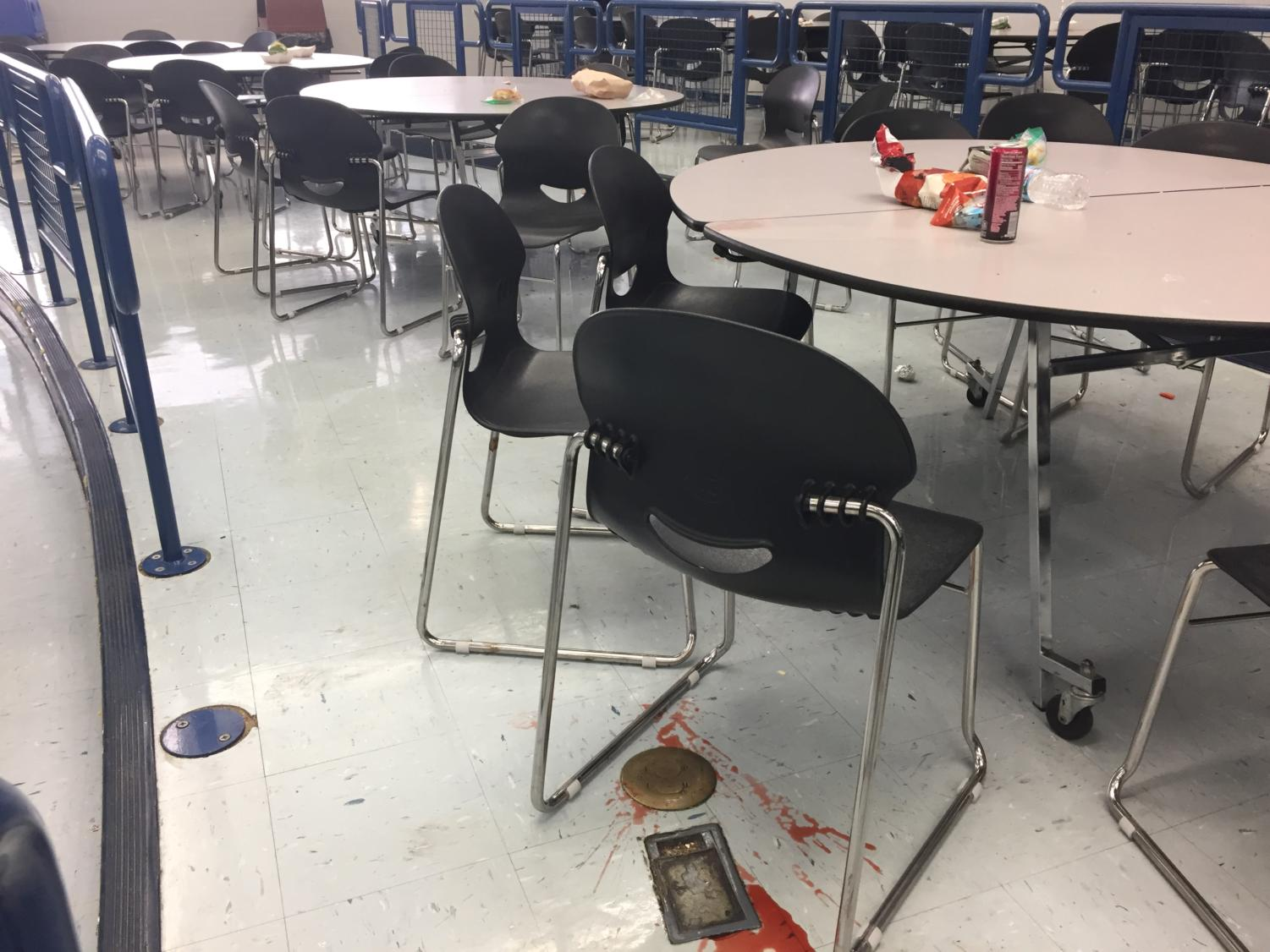 """Once the lunches are over, it looks like a hurricane went through the lunchroom,"