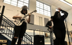 Student musicians jam out in new rock band class