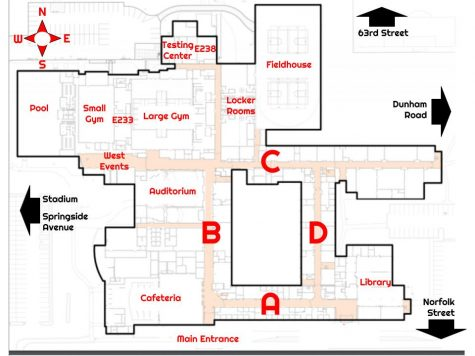A helpfully labeled map for anyone struggling with the layout of DGS.