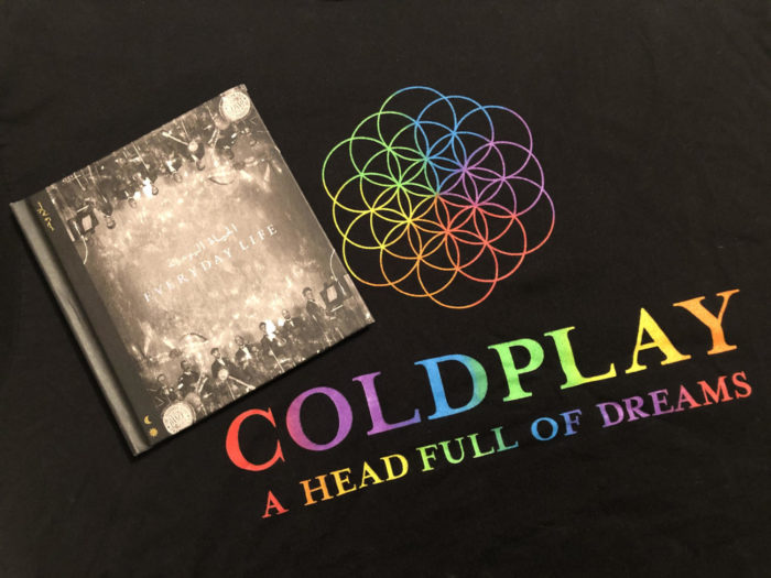 There is not only a contrast in the artwork associated with Coldplay's last two albums, but also in the evolution of their sound.
