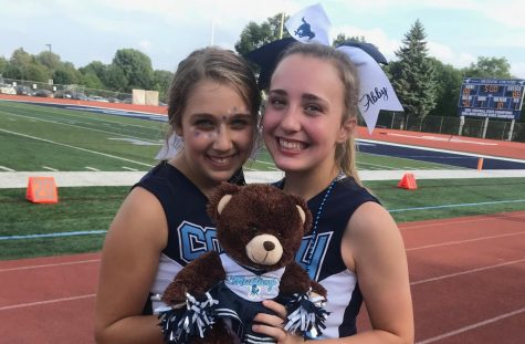 Juniors Abby Cigrand and Kendall Swider have been cheering together for two years.