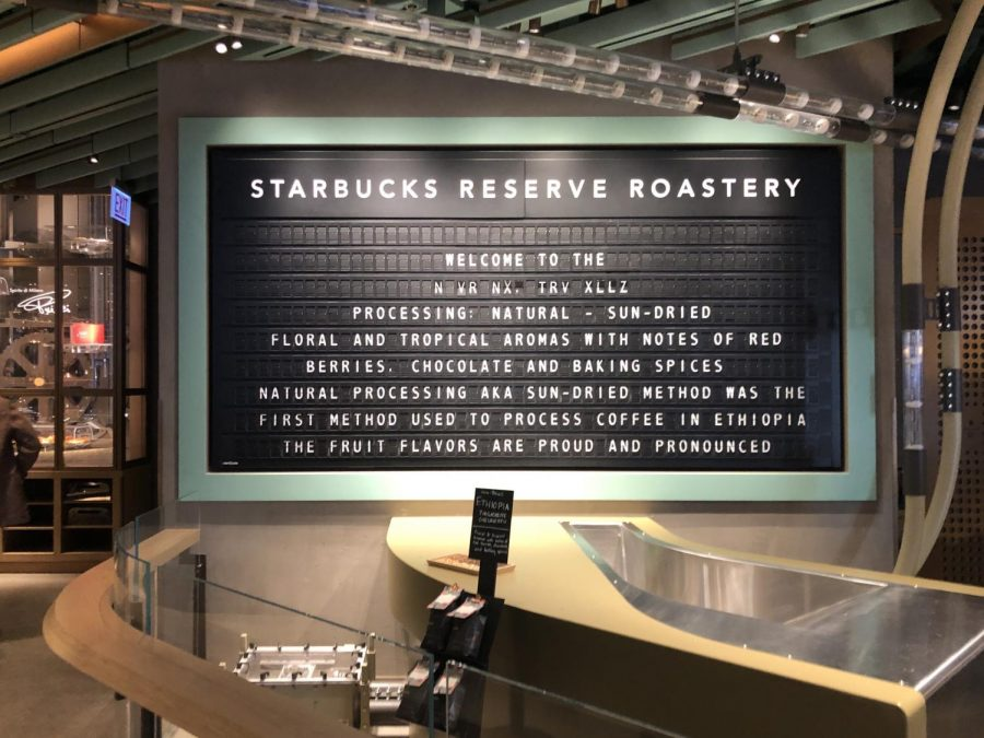 The giant Roastery is only a couple blocks away from huge stores in Water Tower Place and 900 N Michigan.