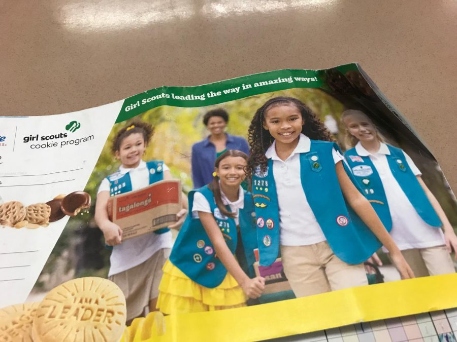Girl Scout cookies are available for sale from your local Girl Scout.