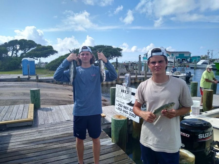 Raso+and+Rodden+enjoyed+their+time+fishing+in+North+Carolina+on+a+combined+family+vacation.+