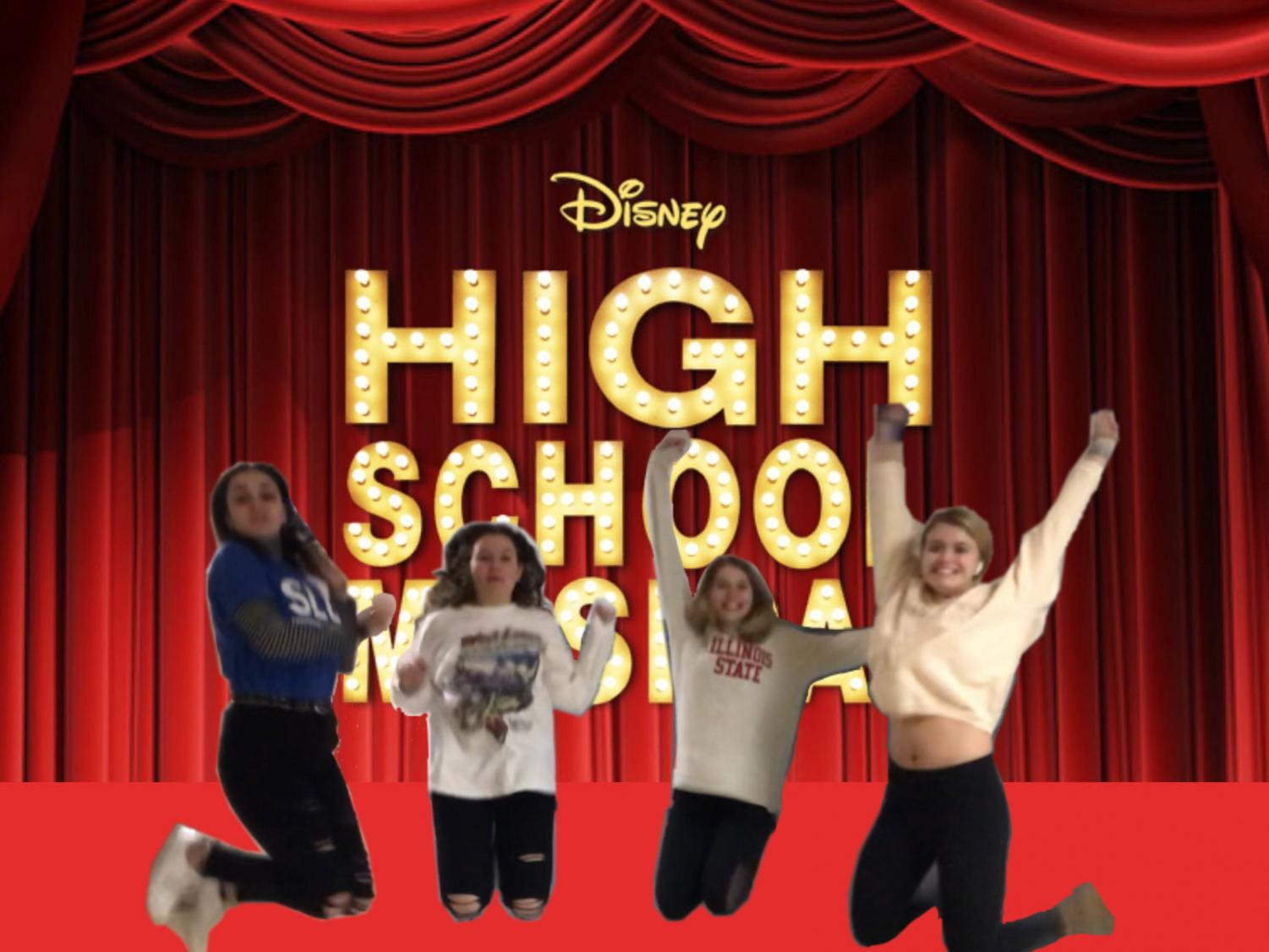 Seniors jump for joy after the announcement of season two of HSMTMTS.