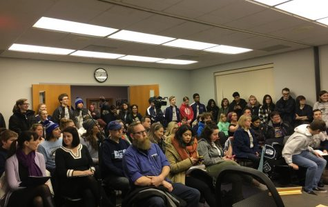 Students attend board meeting in support of band director