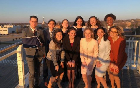 The DGS speech team celebrates their third victory in four years.