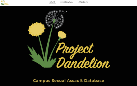 A screenshot of the Project Dandelion database, which currently operates under a weebly website.
