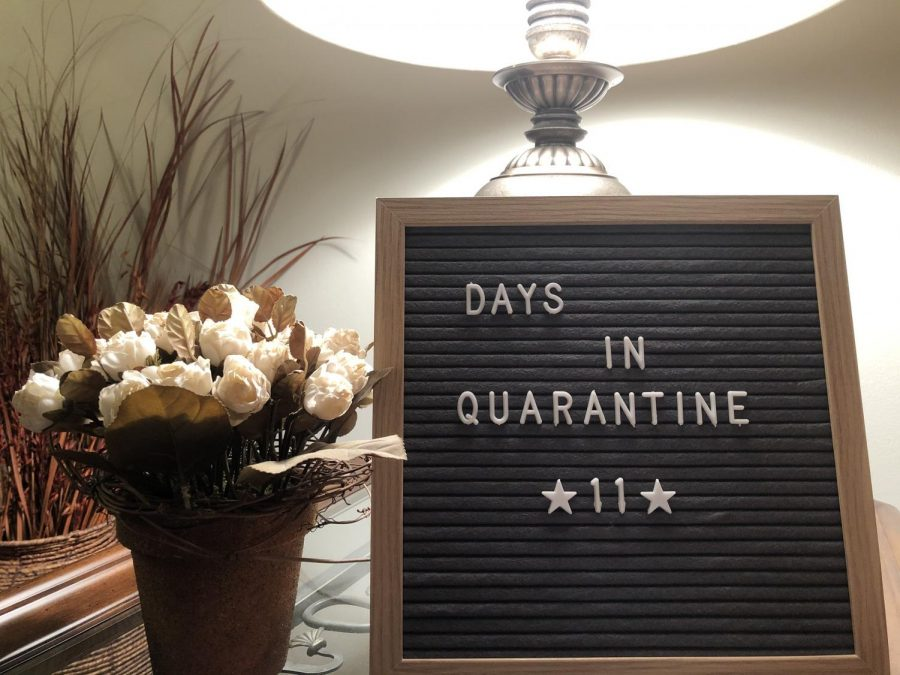 As a way of keeping ourselves occupied during this time of social distancing, my family has started keeping track of our time in quarantine.