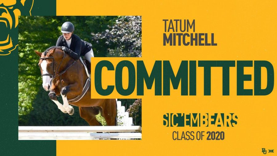 As of Nov. 12, Tatum Mitchell is committed to division I Baylor University.