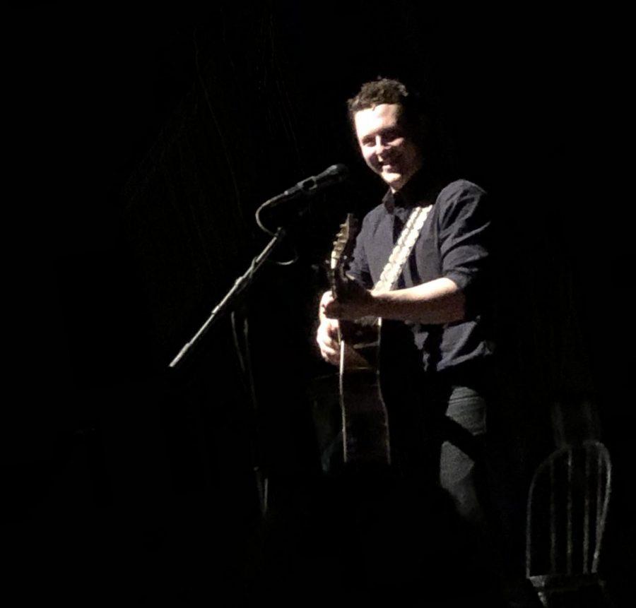 Noah Reid in between performances during his concert in Chicago.