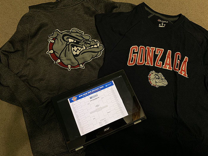 Senior Ashley Boak has an obsession with the Gonzaga basketball team.