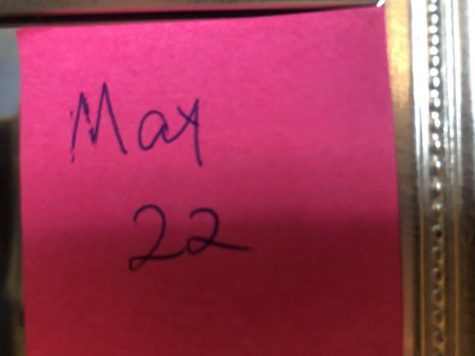 A little, hot pink post-it note that was sloppily written the first day of senior year, now stands as a reminder for me to persevere.