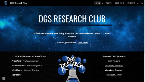 DGS Research Club offers students the opportunity to conduct their own long-term research projects.