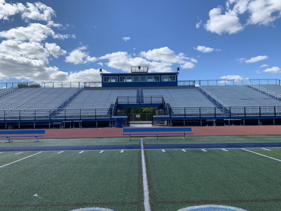 The new DGS stadium is bigger and sturdier than before, now equipped with wheelchair accessible ramps. The athlete's new squad rooms for home and away teams, along with a bathroom and small locker room for game officials, are underneath the bleachers.