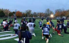 I joined the DGS football team at practice to see what it was like to be a football player.